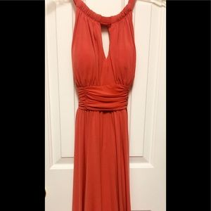 New Direction coral flowing dress.